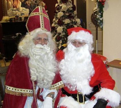 Sinterklaas and Santa Claus