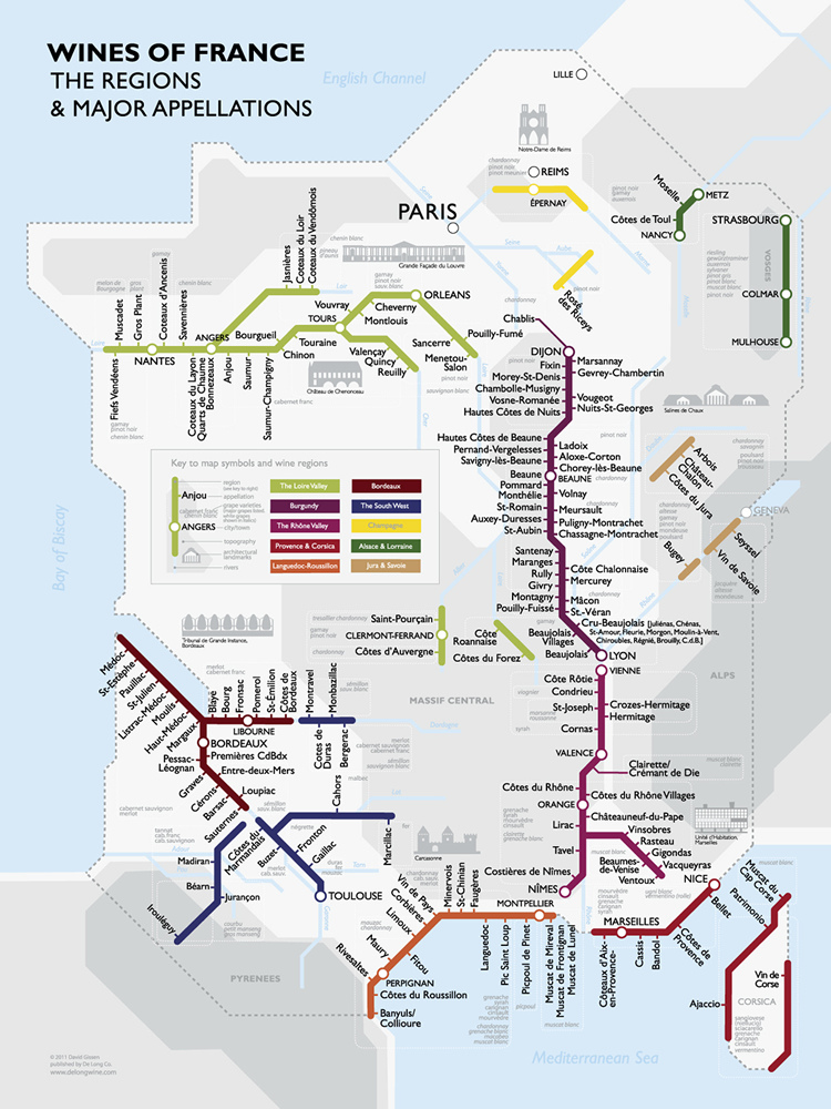 Wines of france, alternative mapping