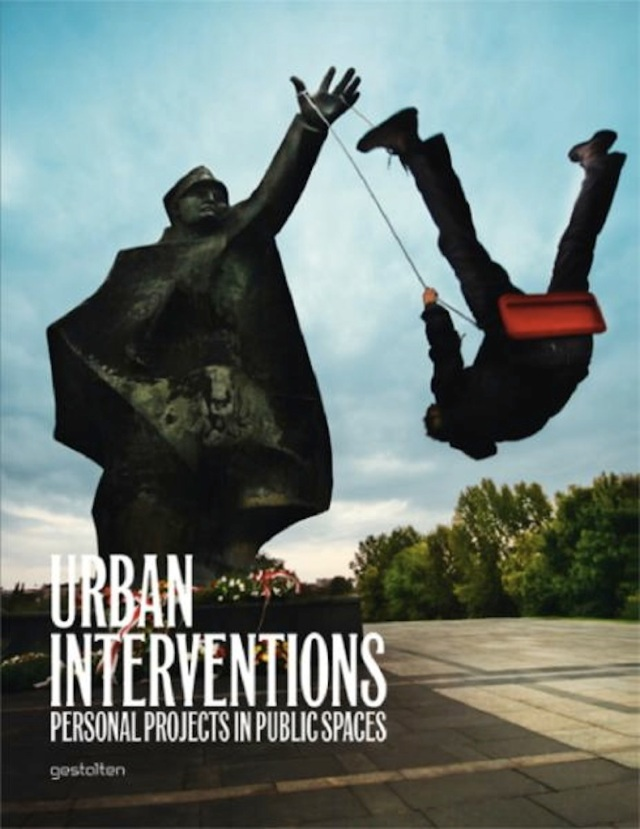 "Book cover  ""Urban Interventions - Personal projects of public space""."