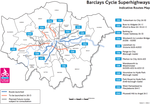 Barclays Cycle Superhighways network
