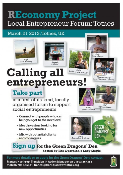 An invitation for entrepreneurs to join the Food Link project.