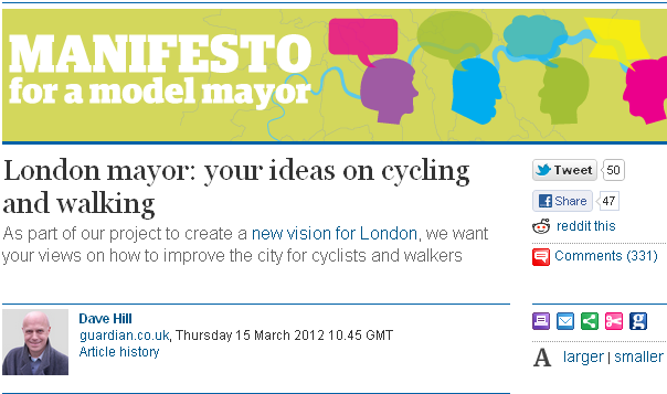 Guardian - Manifesto for a model mayor
