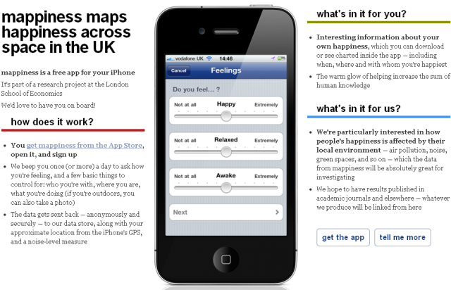 Mappiness app