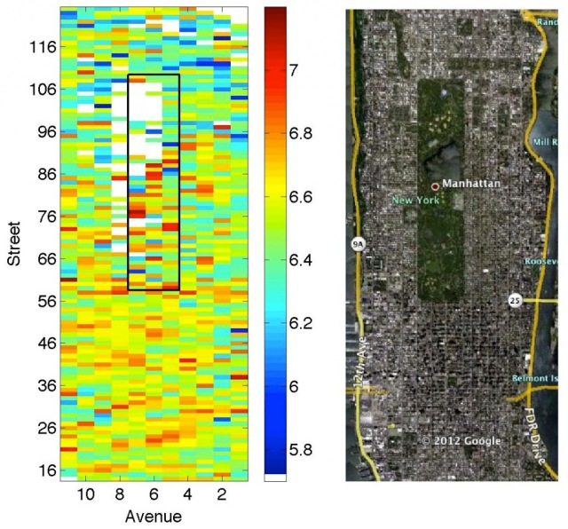NYC Happiness heatmap - onehappybird.com