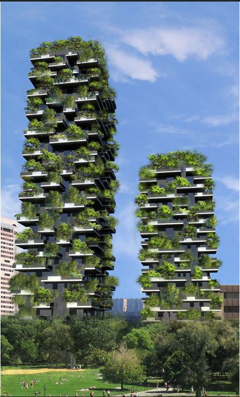 The Bosco Vertical towers in Milan.