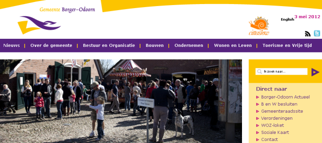 Homepage Borger-Odoorn with Cittaslow logo
