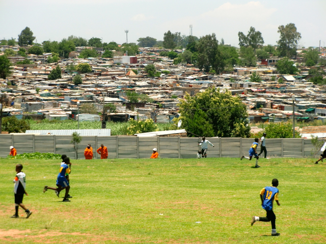 Diepsloot with the school in the foreground