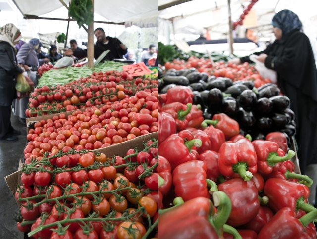 Market at Maybachufer in Berlin-Neukölln