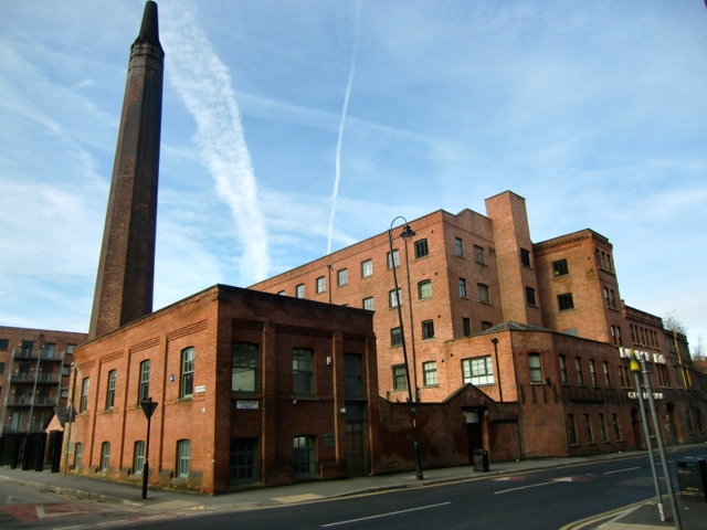 The old Dunlop factory in Manchester