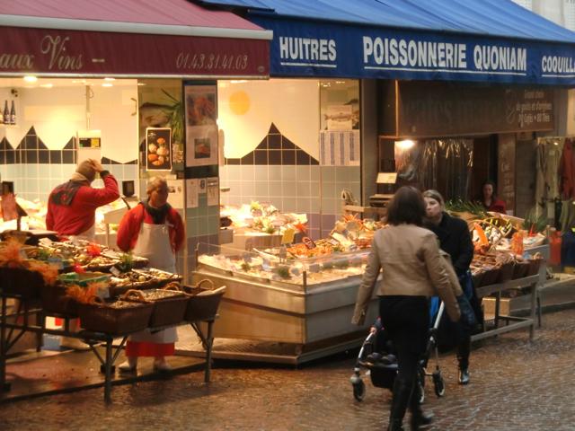 Rue Mouffetard in Paris. A vibrant market street in the heart of a bustling metropolis.