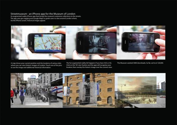 The StreetMuseum app