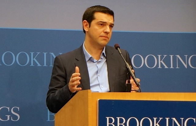 Alexis Tsipras, head of the Greek main opposition party SYRIZA