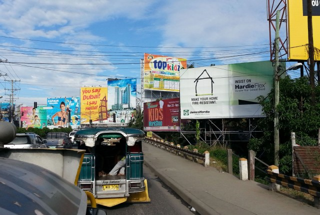 Billboards along the highway