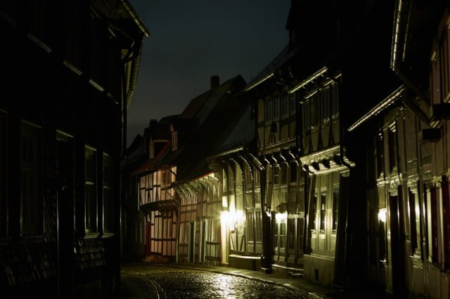 Goslar in the dark