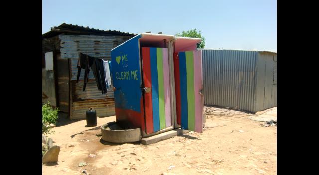 Public toilets in Diepsloot