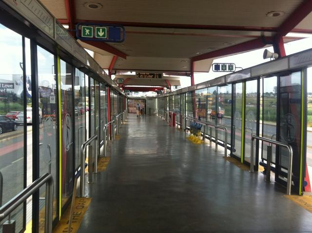The clean space of Rea Vaya BRT