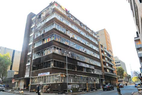 A highjacked building in the inner city of Johannesburg
