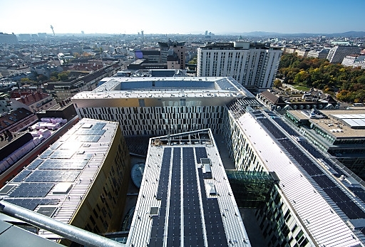The crowdfunded solar power plant in Vienna.