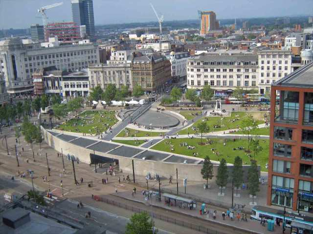 Picadilly Gardens in Manchester