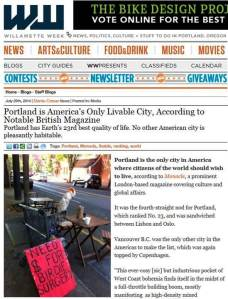 Portland Livable City (Williamette Week, 2014)