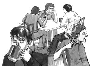 Nellie Robinson - Political Coffee House, Calcutta (browndailyherald.com, 2014)