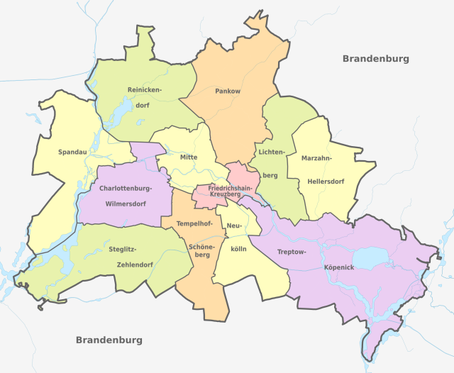 Berlin administrative Divisions
